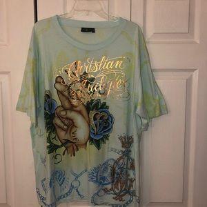 Christian Audigier Men's Bling T-Shirt size 3XL